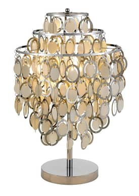 Adesso Shimmy Shimmy Table Lamp in Chrome Finish Lighting