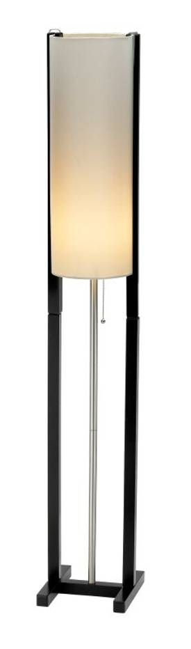 Adesso Bridges Bridges Floor Lamp in Black Walnut Finish Lighting