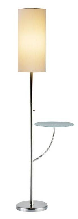 Adesso Concierge Concierge Floor Lamp In Steel Finish Lighting