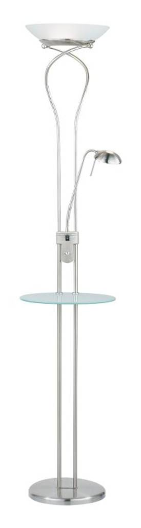 Adesso Concierge Concierge Combo Torchiere Lamp In Steel Finish Lighting
