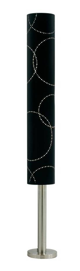 Adesso Solaris Solaris Torchiere Floor Lamp in Black Finish Lighting