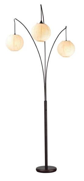 Adesso Spheres Spheres Arc Lamp In Bronze Finish Lighting