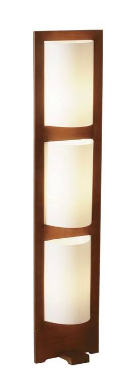 Adesso Zen Zen Floor Lamp In Walnut Finish Lighting