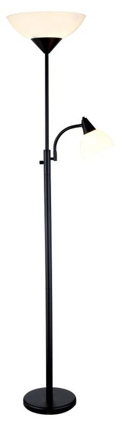 Adesso Piedmont Piedmont Combo Torchiere in Steel Finish Lighting