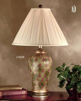 JB Hirsch Traditional Garden Trellis Jar Table Lamp Lighting