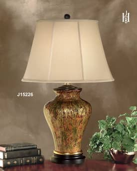 JB Hirsch Traditional Rainstorm Abstract Porcelain Table Lamp Lighting