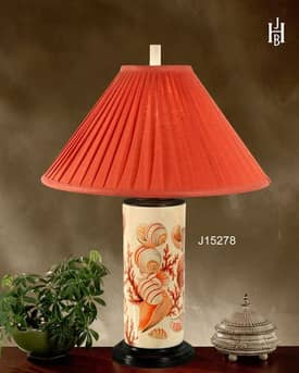 JB Hirsch Whimsical Seaside Porcelain Table Lamp Lighting