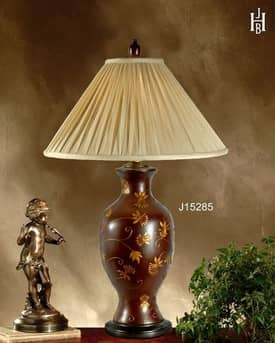 JB Hirsch Asian Flower vine Porcelain Table Lamp Lighting