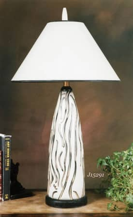 JB Hirsch Contemporary Ribbons Porcelain Table Lamp Lighting