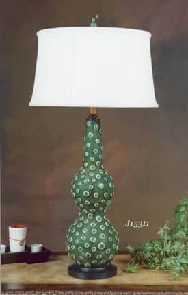 JB Hirsch Contemporary Marble Dots Porcelain Table Lamp Lighting
