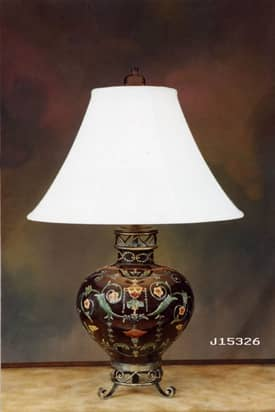 JB Hirsch Asian Tuscan Porcelain Table Lamp Lighting
