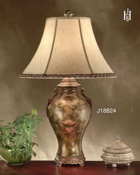 JB Hirsch Asian Palace Pond Wedding Jar Table Lamp Lighting
