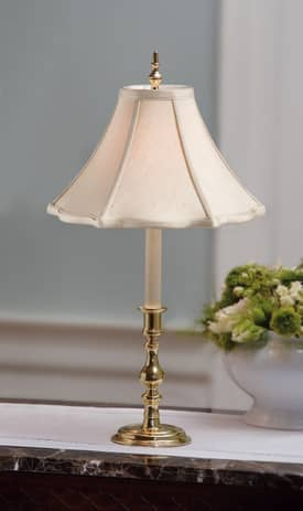 Sedgefield by Adams Williamsburg Powell Small Lamp in Polished Brass Finish Lighting