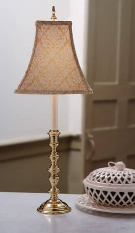 Sedgefield by Adams Williamsburg Sarah Coke Large L433-433 Table Lamp in Polished Brass Finish Lighting