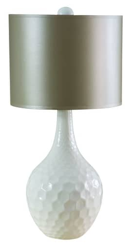 Sedgefield by Adams Sedgefield Nora Table Lamp in Cloud White Finish Lighting