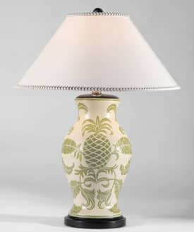 Sedgefield by Adams Sedgefield Stylized Pineapple Table Lamp in Hand Painted Finish Lighting