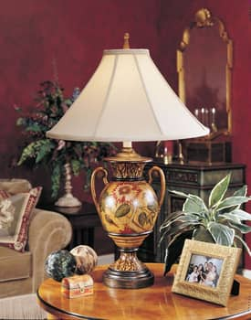 Sedgefield by Adams Sedgefield Passion Flower Urn Table Lamp with Hand Painted Finish Lighting