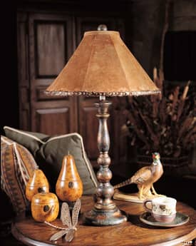 Sedgefield by Adams Bob Timberlake Bob Timberlake Suede Charlotte Table Lamp with Hand Painted Finish Lighting
