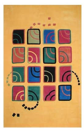 The American Home Rug Company Bright Swirling Blocks Rug