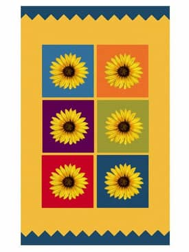 The American Home Rug Company Playtime Rugs Sunflower Blocks Rug