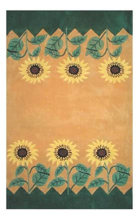 The American Home Rug Company Bright Sunflower Rug