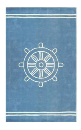The American Home Rug Company Beach Ship Wheel Rug