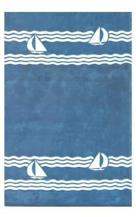 The American Home Rug Company Beach Sailboats Rug