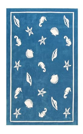 The American Home Rug Company Beach Shells & Seahorses Rug
