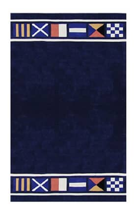 The American Home Rug Company Beach Nautical Flags Rug