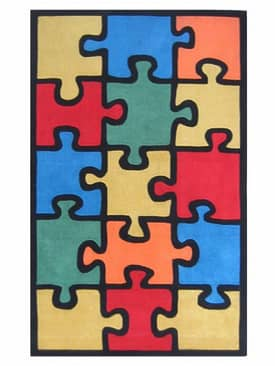 The American Home Rug Company Playtime Rugs Jigsaw Puzzle Rug