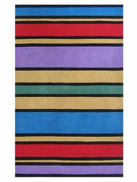 The American Home Rug Company Playtime Rugs Comic Book Stripes Rug