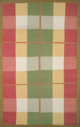 The American Home Rug Company Country Kilim Morning Plaid Rug