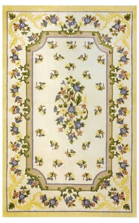 The American Home Rug Company Floral Garden Floral Aubusson Rug