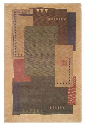 The American Home Rug Company Contemporary Modern Tibetan Blocks Rug