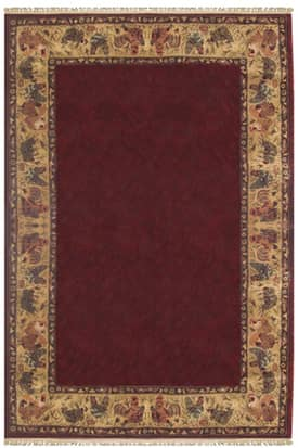 The American Home Rug Company Designer Rooster Border Rug