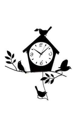 Ashton Sutton Bird House Bird House Wall Clock With Pendulum