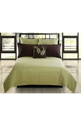 Hallmart Collectibles Contemporary Matrix Coverlet Set