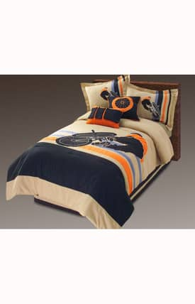 Hallmart Collectibles Kids Afternoon Rider Comforter Set