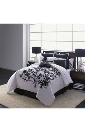Hallmart Collectibles Contemporary Central Park Embroidery Comforter Set