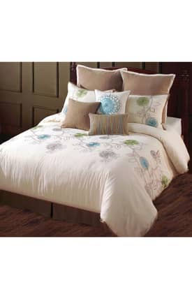 Hallmart Collectibles Contemporary Spring Flower Comforter Set