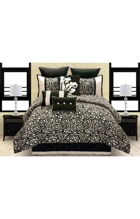 Hallmart Collectibles Contemporary Carrington Comforter Set