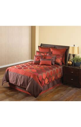 Hallmart Collectibles Contemporary Redberry Ikat Comforter Set