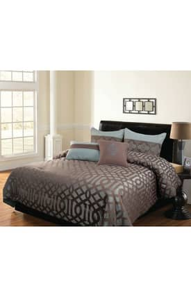 Hallmart Collectibles Contemporary Geo Comforter Set