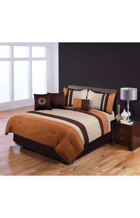 Hallmart Collectibles Contemporary Fallbrook Spice Elston Comforter Set