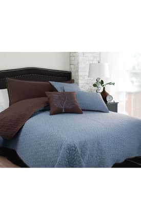 Hallmart Collectibles Contemporary Morning Leaves Coverlet Set