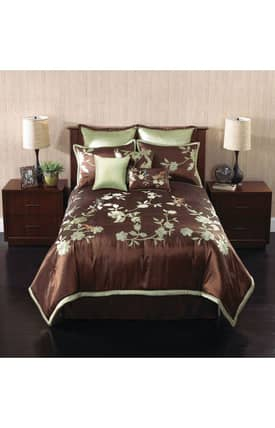 Hallmart Collectibles Floral Songbird Comforter Set
