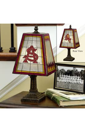 The Memory Company COL Arizona State Art Glass Table lamp in Brass Finish Lighting