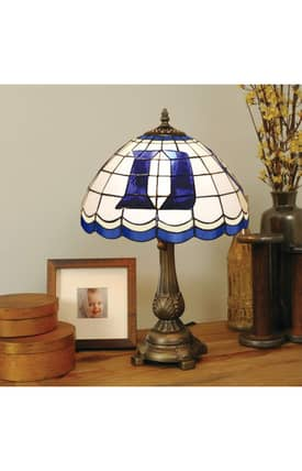 The Memory Company COL Duke Tiffany Table Lamp in Brass Finish Lighting