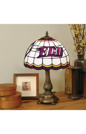 The Memory Company COL East Carolina Tiffany Table Lamp in Brass Finish Lighting