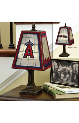 The Memory Company MLB Los Angeles Angels MLB Table Lamp in Brass Finish Lighting